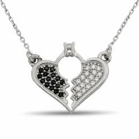 Argentum Concept Kalplerin Birlikteliği Gümüş Kolye