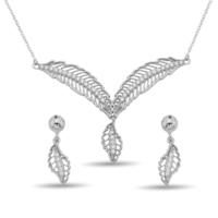 Argentum Concept Zirkon Taşlı Gümüş Kanat Set