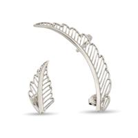 Argentum Concept Melek Kanadı Motifli Gümüş Küpe