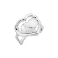 Argentum Concept Kalp Motifli Gümüş Kıkırdak Küpe