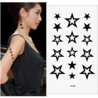 Leydika Black Tattoo Siyah Geçici Metalik Dövme 481