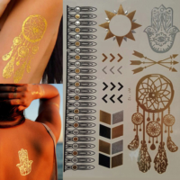 Leydika Flash Tattoo Geçici Metalik Dövme 51