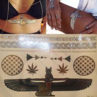 Leydika Rihanna Egypt Flash Gold Tattoo Geçici Dövme 256