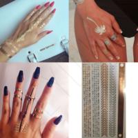 Leydika Saç El Parmak için Flash Tattoo Geçici Dövme 241