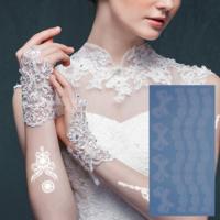 Leydika White Tattoo Beyaz Geçici Metalik Dövme 298