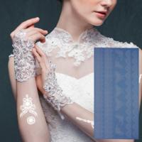 Leydika White Tattoo Beyaz Geçici Metalik Dövme 303