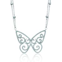 VAOOV 925 Ayar Gümüş Büyük Kelebek Kolye