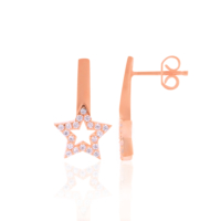 Azuris Silver Zirkon Taşlı Yıldız Küpe