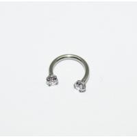 Cadının Dükkanı 316 L Cerrahi Çelik Taşlı Yarım Ay Piercing (Çap: 8 mm)