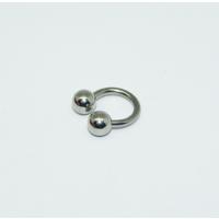 Cadının Dükkanı 316L Cerrahi Çelik Toplu Gümüş Rengi Yarım Ay Piercing (6 mm)