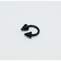 Cadının Dükkanı 316L Cerrahi Çelik Siyah Yarım Ay Piercing (6 mm)