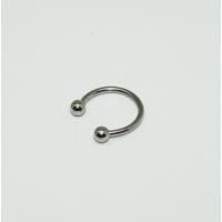 Cadının Dükkanı 316L Cerrahi Çelik Toplu Gümüş Rengi Yarım Ay Piercing (10 mm)