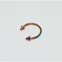 Cadının Dükkanı 316L Cerrahi Çelik Spike Neon Yarım Ay Piercing (12 mm)