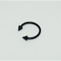 Cadının Dükkanı 316L Cerrahi Çelik Spike Siyah Yarım Ay Piercing (12 mm)