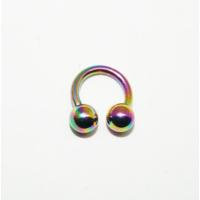 Cadının Dükkanı 316L Cerrahi Çelik Toplu Neon Yarım Ay Piercing (6 mm)