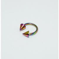 Cadının Dükkanı 316L Cerrahi Çelik Neon Spike Yarım Ay Piercing (8 mm)
