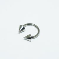 Cadının Dükkanı 316L Cerrahi Çelik Gümüş Rengi Spike Yarım Ay Piercing (8 mm)