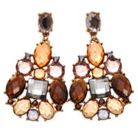 Myfavori 18k Kaplama Muhteşem Kristal Küpe Yeni Moda Hediyelik Takılar