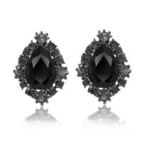 Myfavori Siyah küpe Modelleri Kristal Taşlı Zarif Küpe Takı Online Satış