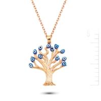 Bella Gloria Hayat Ağacı Pembe Altın Kolye (Pp78233)