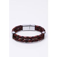 La Pescara Kahverengi Deri Çelik Erkek Bileklik BLK1093