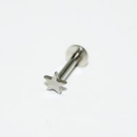 Cadının Dükkanı 316L Cerrahi Çelik Yıldız Gümüş Rengi Dudak Piercing