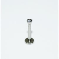 Cadının Dükkanı 316L Cerrahi Çelik Tek Taş Gümüş Rengi Dudak Piercing (8 mm)