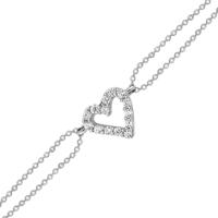 Altınsepeti Beyaz Altın Minik Taşlı Kalpli Bileklik As212Blr2