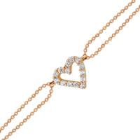 Altınsepeti Rose Altın Minik Taşlı Kalpli Bileklik As212Blr1