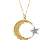Altınsepeti Taşsız Altın Ayyıldız Kolye As1061Kl