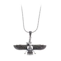 Akyüz Gümüş Orta Boy Ahura Mazda Markazit Gümüş Kolye