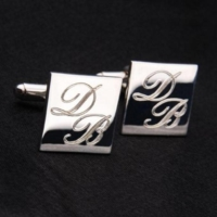 Hediye Paketim Gümüş Kaplama Harfli Kol Düğmesi