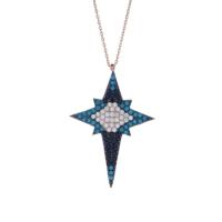 Sanroza Gümüş Takı Kutup Yıldızı Gümüş Kolye