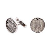 Akyüz Gümüş Telkari Gümüş Kol Düğmesi