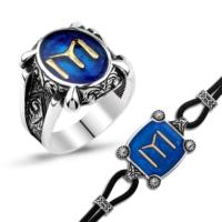 MeryemZeynep Gümüş Kayı Boyu Yüzük Kombini