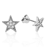 MeryemZeynep Gümüş Yıldız Küpe