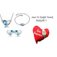 Forentina Mavi Kalpli Takı Seti FR0387