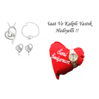 Forentina Beyaz Kalpli Takı Seti FR0388