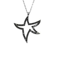 A'Favor Oniks Taşlı Gümüş Kolye Yıldız