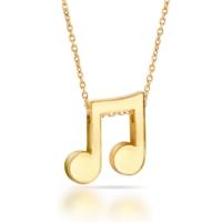 Goldstore 14 Ayar Altın Nota Kolye Gp40081