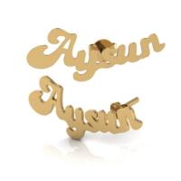 Goldstore 14 Ayar Altın İsim Küpe Pnj39965