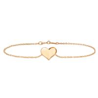 Goldstore 14 Ayar Kalp Altın Bileklik Gb40166