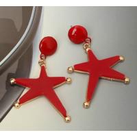 Myfavori Küpe Yeni Model Kırmızı Büyük Küpe Denizyıldızı Yıldızı Küpe Modelleri