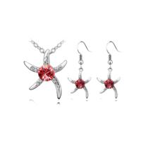 Myfavori Takı Seti Deniz Yıldızı Gümüş Kaplama Moda Takı Seti