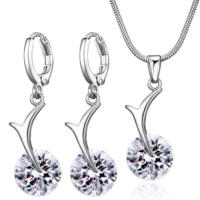 Myfavori Takı Seti Moda Kristal Kolye Küpe Set Gümüş Kaplama Takı Seti Modelleri Ve Fiyatları