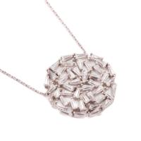 Sümer Telkari Yeni Trend Baget Gümüş Kolye 1028