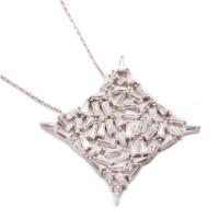 Sümer Telkari Yeni Trend Baget Gümüş Kolye 1029