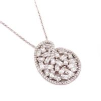 Sümer Telkari Yeni Trend Baget Gümüş Kolye 1030
