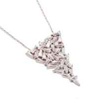 Sümer Telkari Yeni Trend Baget Gümüş Kolye 1033