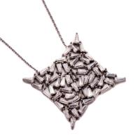 Sümer Telkari Yeni Trend Baget Gümüş Kolye 1036